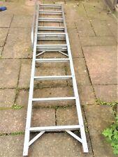 loft ladder - 2-section, 2.5 metres. Aluminium. With handrail