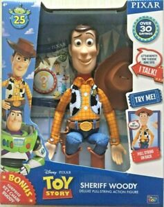 Bonus Edition Toy Story Sheriff Woody Deluxe Pull-String Talking Action Figure
