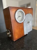 Vintage Clocking In Clock Employment Time Recorder National 1930s Industrial