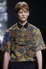 NWOT Authentic DRIES VAN NOTEN CAMO Camouflage & Floral Print Shirt IT-50 US-40