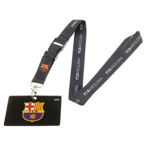 F.C Barcelona Lanyard Neck Strap - Quick Release ID Badge Holder - Football Clip