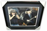 Brian Johnson Angus Young Dual Signed Autographed 16x20 Photo AC/DC GV Framed