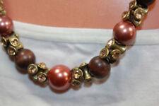 Collar de bisutería color principal bronce de vidrio