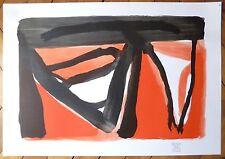 Bram Van Velde affiche originale abstraction art abstrait cobra Flammarion Ed