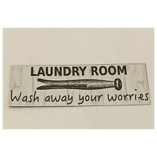 Laundry Room Wash Away Your Worries Sign Room Rustic Wall Plaque House Country