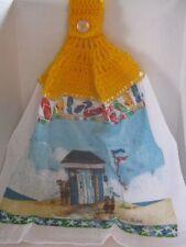 Crochet (Beach & Flip Flops) Kitchen Towel ~ **Gift Idea