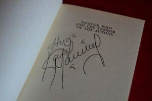Doctor Who: THE TERROR OF THE AUTONS Target Book Signed by Katy Manning