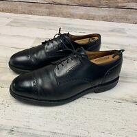 Allen Edmonds Cap Toe Oxford Dress Shoes 10.5 D Black Leather