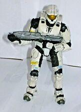 "Rare Halo 3 Series 1 White Spartan Soldier (Mark VI) Figure with Weapon [4.7""]"