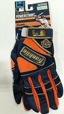 Franklin Powerstrap Series Baseball Gloves (Large) Navy Blue/orange/gold