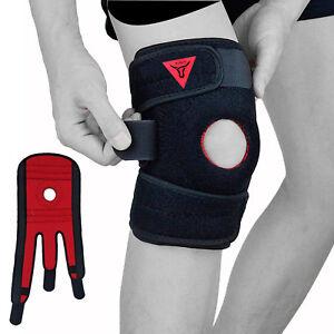 XOGO Black Neoprene Adjustable Open Knee Patella Tendon Support Brace Sleeve