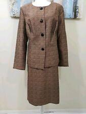 DANILLO Woman 2PC Stunning Bronze Brown Skirt Suit Size 14w