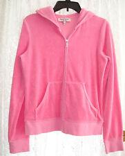 Juicy Couture Pink Velour Zip Up Hoodie Large