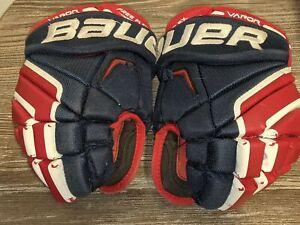 "BAUER Vapor X100 Youth/Boys Ice Hockey Gloves 10"" 25cm Red/White/Blue Free Flex"