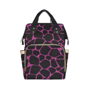 Pink Giraffe Baby Nappy Changing Diaper Backpack Rucksack Bag