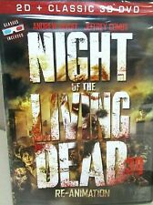 Night of the Living Dead:Re-Animation NEW DVD 3D & 2D w/glasses Zombies Horror