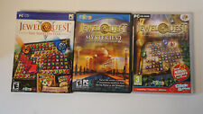 Lot of 3 Jewel Quest PC games --The Sleeplesss Star ,Mysteries 2, Heritage