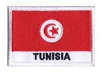 Ecusson patche patch badge à coudre drapeau Tunisien TUNISIE 70 x 45 mm