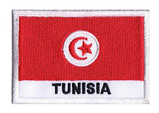 Ecusson  patche patch badge à coudre drapeau Tunisien TUNISIE 70 x 45 mm