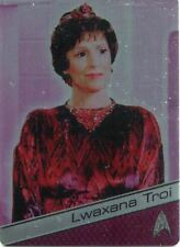 Star Trek 50th Anniversary [2017] Metal Chase Card #22 Lwaxana Troi