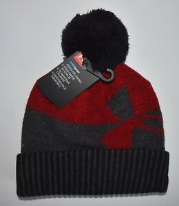 NWT UNDER ARMOUR COLD GEAR YOUTH BOYS RED BEANIE KNIT CAP