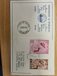 Trinidad And Tobago Stamps 1948 RSW on Illustrated  FDC scarce D909