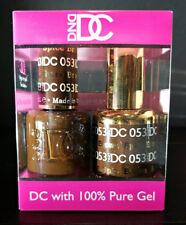 DND DC Soak Off Gel Polish Spice Brown 053 LED/UV 6oz 18ml Gel Duo Set NEW