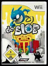 NINTENDO Wii DE BLOB OVP INKL. SPIELANLEITUNGEN
