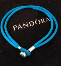 Pandora Fabric Cord Friendship Bracelet TurquoiseGenuine Blue590749CTQ S1 17.5cm