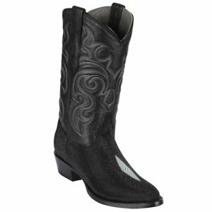 Men's Los Altos Genuine Single Stone Stingray Western Boots Round Toe Wide Width
