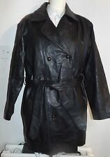 Leather Vintage Trench Coat/Mac Coats & Jackets for Women