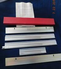 """60N *NEW*- 10 60 50 Silver Reed ORIG RIBBER PUNCHCARD Set /""""R/"""" for SRP 20"""