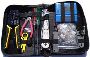 UbiGear Network Cable Tester RJ45 Crimper 100 pcs CAT5e Connector Plug Tool Kits
