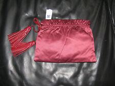 Gap clutch purse evening bag clutch w tassels Red Burgundy New!