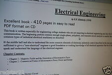 """Great Book - Electrical Engineering Book on CD """"Excellent!"""""""