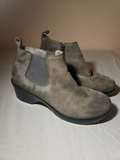 ALEGRIA PG LITE BOOTS SHOES GRAY 39 9 EVE BOOTIES LEATHER Excellent Used Cond.