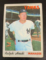 1970 Ralph Houk # 273 New York Yankees NY Topps Baseball Card