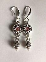 Acorn Charm Earrings  Antique Silver