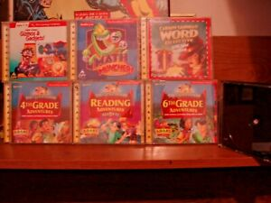(9) Clue Finders ,Super Solvers, Carmen Sandiego CDrom early WIN/MAC systems