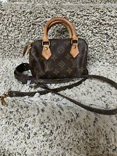 Authentic Louis Vuitton Mini Speedy Nano Monogram with Strap ( Made In France )