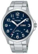 Pulsar Mens Blue Dial Day Date Watch PJ6095X1