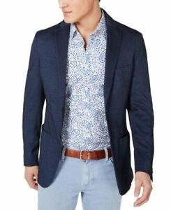 Michael Kors Mens Sport Coat Navy Blue Size 40 Short Two-Button $248 #038