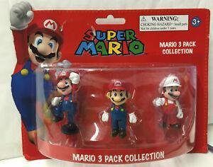 Nintendo Super Mario Mini Figure Pack Mario- Mario/Mario Jump/Fire Mario