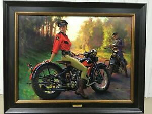 """David Uhl """"Evelyn"""" Framed and Signed Art Print W/ Paperwork A/P 17/25"""