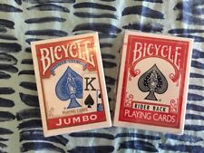 Lot Bicycle 808 Red Rider Back Playing Cards & Bicycle Jumbo Sealed