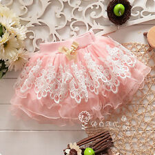 Toddler Baby Girls Summer Lace Floral Bust Skirt Kid Tutu Dress Short Mini Skirt