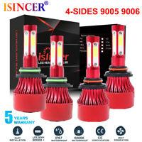 Combo 9005+9006 672000LM 4-Side CREE LED Headlight Kits High Low Lamp Bulb 6000K