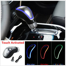 Touch Activated Sensor RGB Multi-Color LED Light Car Gear Shift Knob USB Charge
