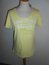 110 55 Blue Seven women Shirt Taille 46 jaune avec inscriptions Manches Courtes Neuf + étiquette