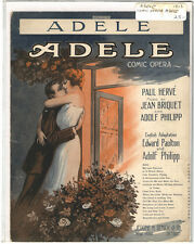 Rare Antique Original VTG 1913 Adele Comic Opera Piano Sheet Music Print